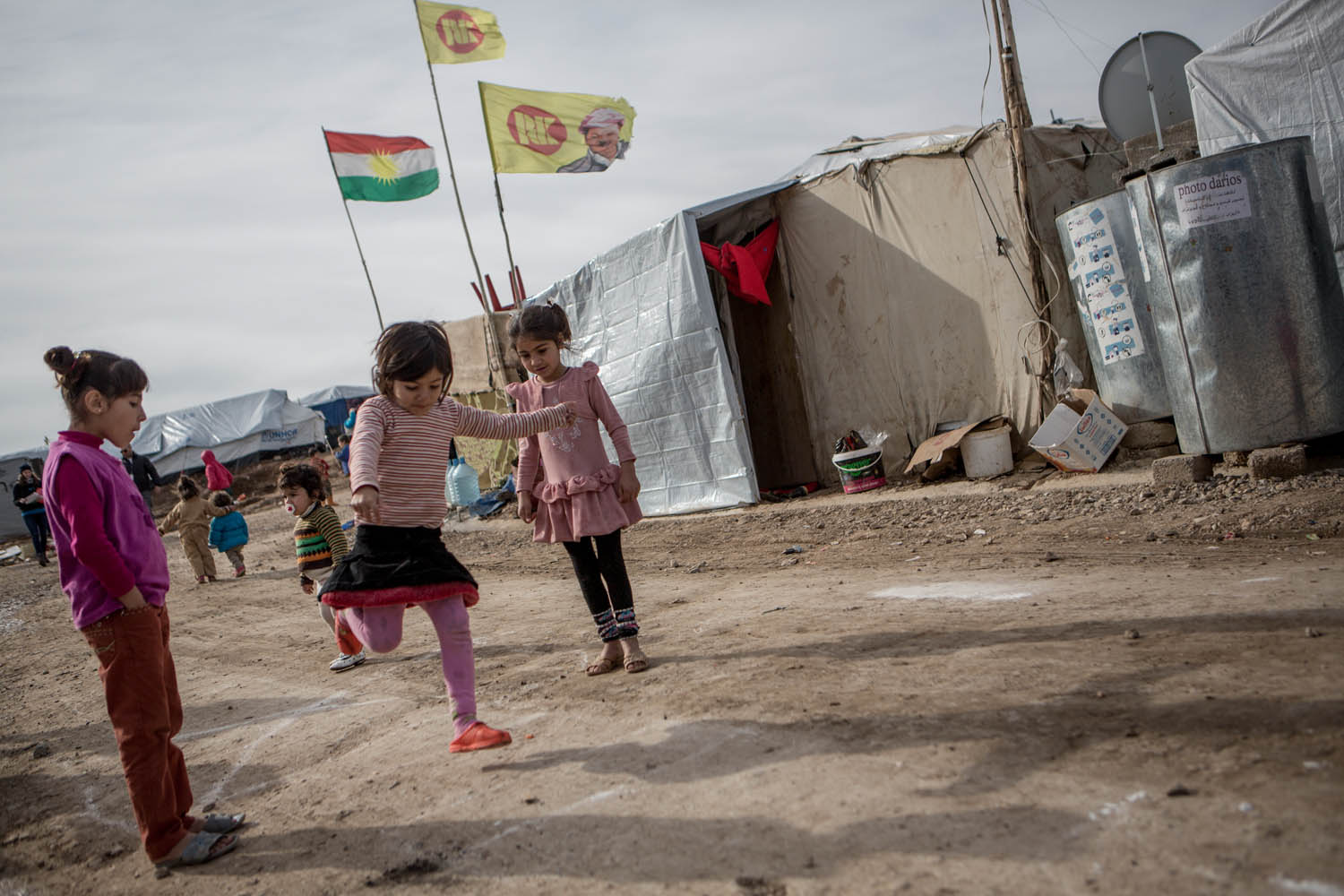 Domiz Refugee Camp, Kurdistan February 2014