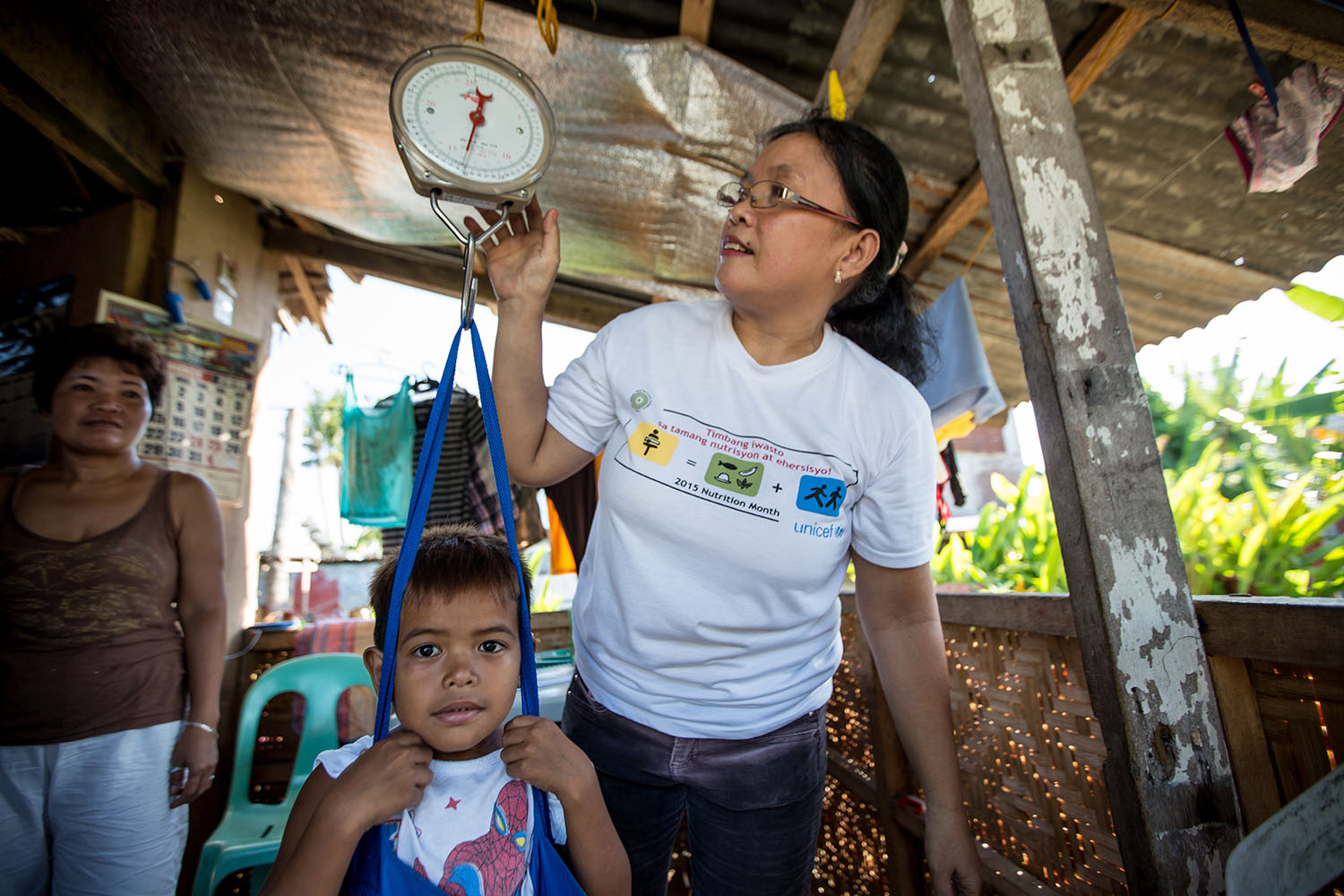 Renjie Engracial(nutrition campaign) in the community UNICEF trip to Tacloban, in the Philipines to report on their response to Typhoon Yolanda, March 2016