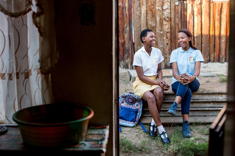 Peer Menor Mother, Sanelisiwe Nkomo at enagaes with Zanele (M2M client) at her home Umlazi Township, Kwazulu Natal South Africa 15 July 2016 photo: Karin Schermbrucker