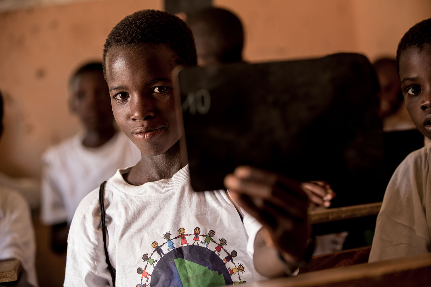 Fayçal Maiga, 11 yrs old, (RELEASED) engages in one of the UNICEF lead programs at the Accelerated Learning Center of Bourougoundye, Gao where ongoing conflicts in the northern regions of Mali continue to have devastating effects education. UNICEF suppor