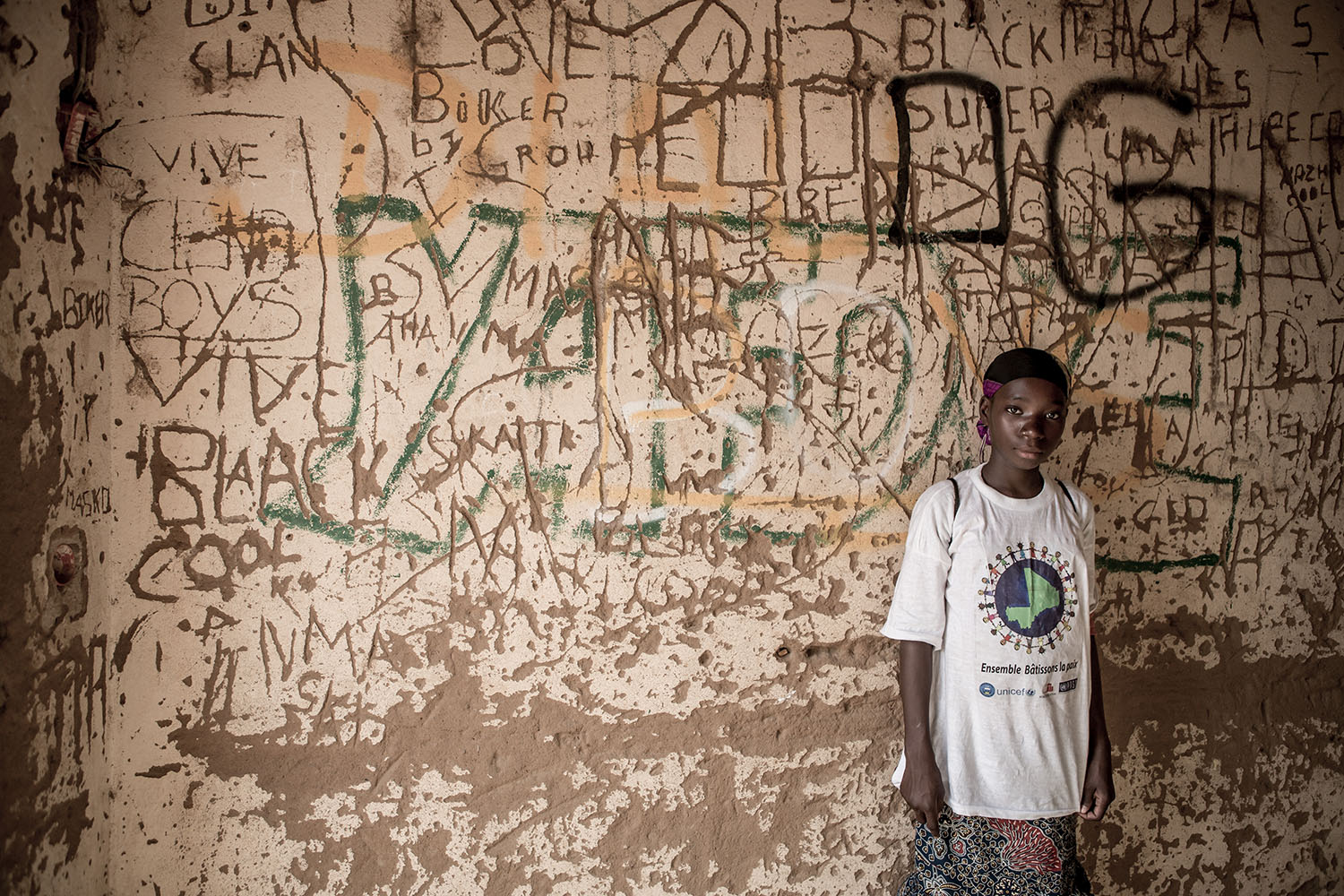 Adeoula, 12 years old (RELEASED) a student at the Accelerated Learning Centre in Bourougoundye Gao, Northern Mali where ongoing conflicts in the northern regions of Mali continue to have devastating effects education. UNICEF supports the re-opening of sch
