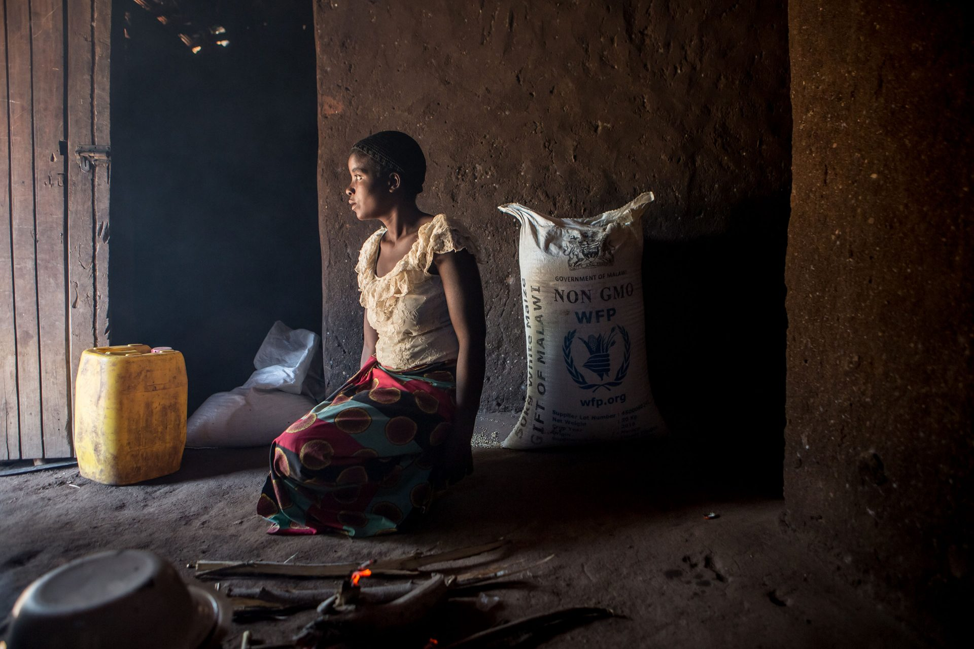 """Life has been very difficult since the drought. I had to take my baby girls to the hospital because they were so thin and I thought they were going to die,"" says Estere, 24, at her home in Chikwawa, Malawi. Estere is HIV positive and a single mothe"
