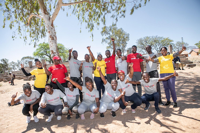 17 October 2019, Bulawayo Zimababwe Grass Roots Soccer photo:Kschermbrucker/Slingshot/GRS